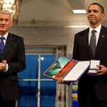 Obama receiving Nobel Prize